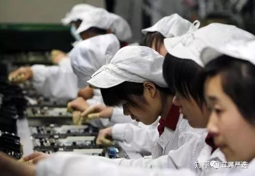 中国人口密集型的制造业
